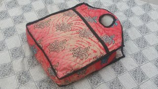 10   मिनट   में  बनाऐ easy  Handbag bag with front pocket ll market bag ll lunch bag ll bag banana