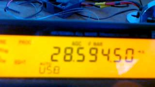 Strange signal on 28 MHz band