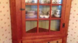 Handmade Pennsylvania Corner Cupboard