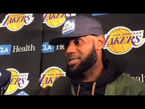 Watch: LeBron James talks about his Los Angeles Lakers debut