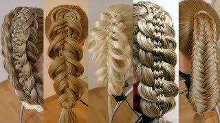 Топ 5. Удивительные косы. Видео-уроки. Hair tutorial. Trenzas