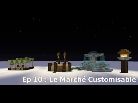 Minecraft | Tutoriel Style Médiéval | Ep 9 : Le Marché Customisable