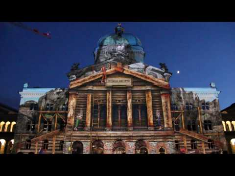Rendez-vous Bundesplatz 2015: «Das Juwel der Berge» – Lichtzauber am Bundeshaus