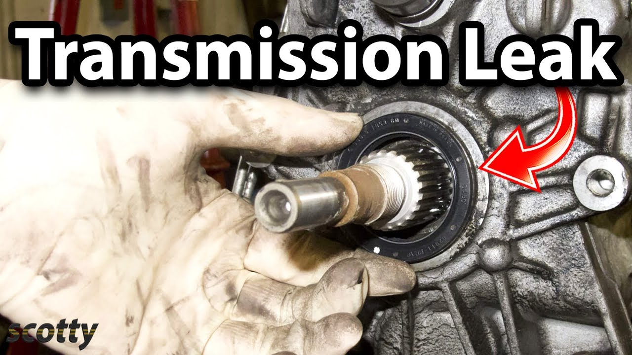 how to fix a transmission leak in your car output shaft seal  [ 1280 x 720 Pixel ]