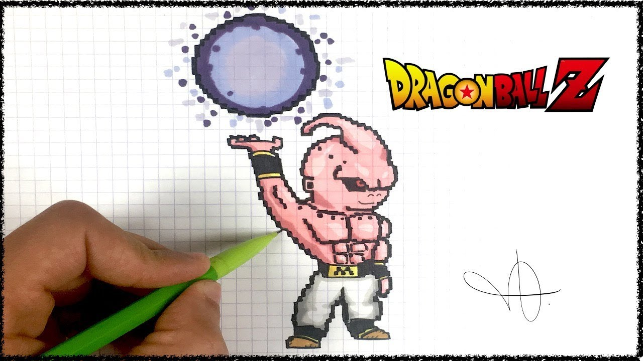 Draw Kid Buu Pixel Art Dbz