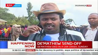 All set for musician John De'Mathew final send-off in Gatanga, President Uhuru expected