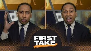 Stephen A. calls Josh Rosen 'idiotic' for '9 mistakes' comments at NFL draft | First Take | ESPN