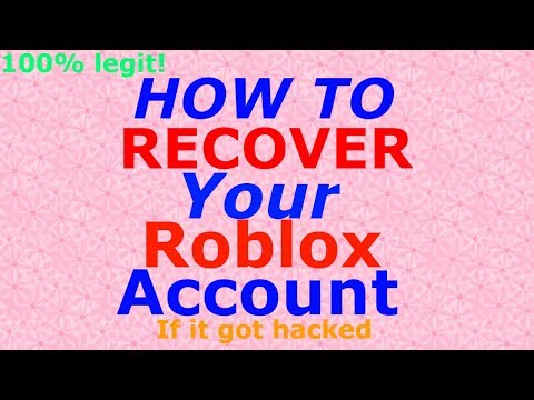 How To Recover Your Roblox Account Without A Password Or Email Youtube