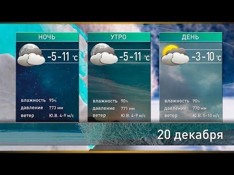 Прогноз погоды на 20 декабря