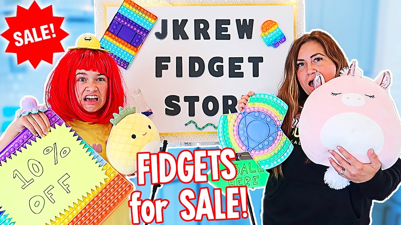 We OPENED Our Own FIDGET STORE At Home!!   JKREW