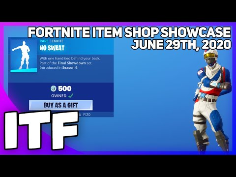 Fortnite Item Shop NO SWEAT IS BACK! [June 29th, 2020] (Fortnite Battle Royale)