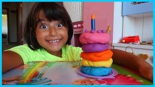 Oyun Hamurlarından Pasta Yaptık | Rüya'nın Mutfağı