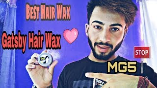 Gatsby Mat & Hard Hair Wax And Mg5 Wax Review And Results