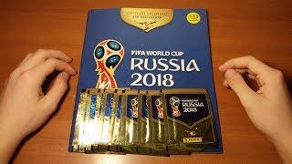 "PANINI ""Чемпионат Мира 2018"" ОБЗОР НОВИНКИ {|} Открытие 8 пачек + обзор журнала FIFA World Cup 2018"