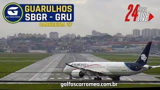 🔴 CÂMERA 24H P STAS 2709 - SBGR - GRU A RPORT - AEROPORTO  NTERNAC ONAL DE SÃO PAULOGUARULHOS
