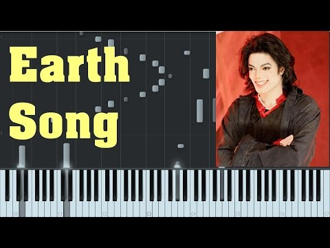 [EASY] Earth Song - Michael Jackson - Synthesia Piano Tutorial