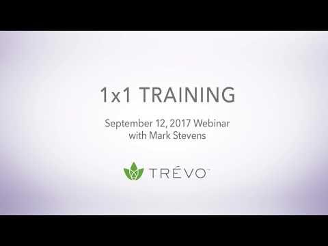 1x1 Webinar Training , hosted by Trévo CEO Mark Stevens