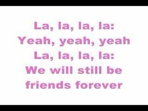 Lyrics of song friends forever