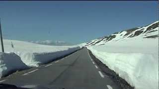 Der Aurlandsvegen (Norwegen) oder die Schneestrasse im Juni