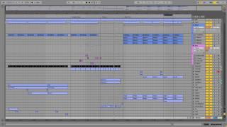 Ableton Live Midi Production Template - Electro Random (Complextro Electro Style)
