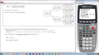 Hypothesis Testing for a Population Correlation Coefficient Using the TI-84 (LinRegTTest)