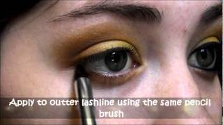 "Fiery ""Summer Eyeshadow Tutorial"" Using ""Inglot Cosmetics"" (yellow summer trend) Thumbnail"