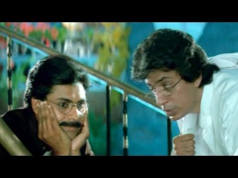 Suswagatham Scenes - Ganesha Ask Raghuvaran About Alcohol Bottle - Pawan Kalyan