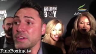 Oscar De La Hoya on Canelo Alvarez vs Chavez Jr negotiations