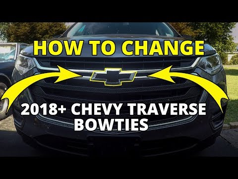 How to Install 2018 – 2020 Chevy Traverse Bowties – Front and Rear