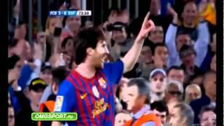 Barcelona vs Espanyol 4-0 All Goals & Highlights Lionel Messi 4 Goals Vs Espanyol 5/5/2012