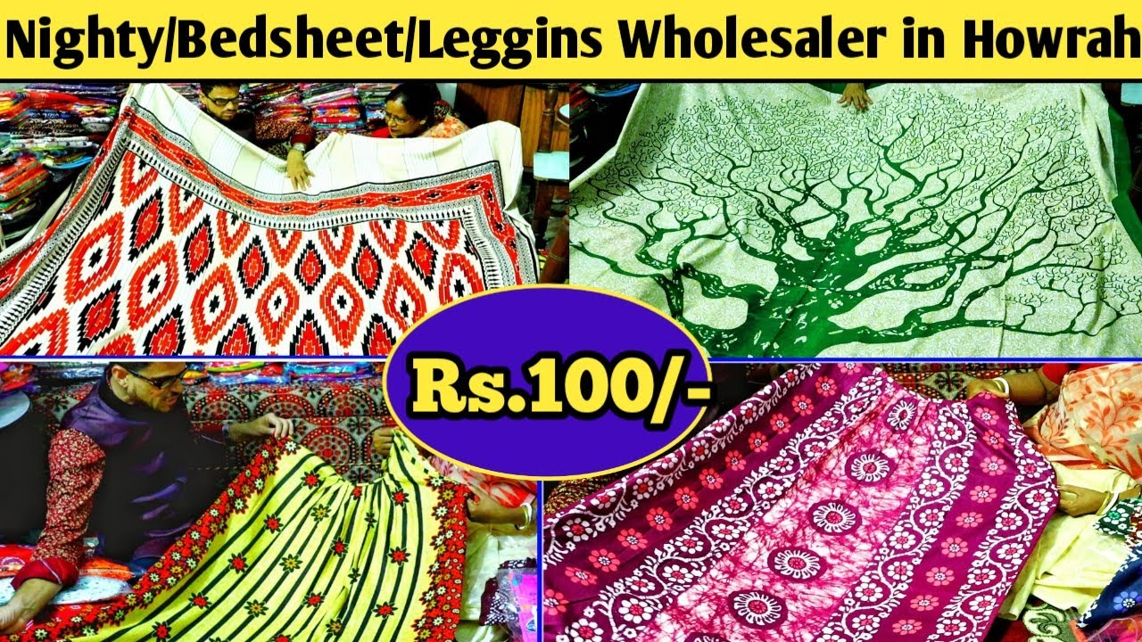 Nighty/Bedsheet/Kurti/Gown/Kaptaan/Leggins/Jeggins/House Coat Wholesale Market|Nighty Ghor-Howrah