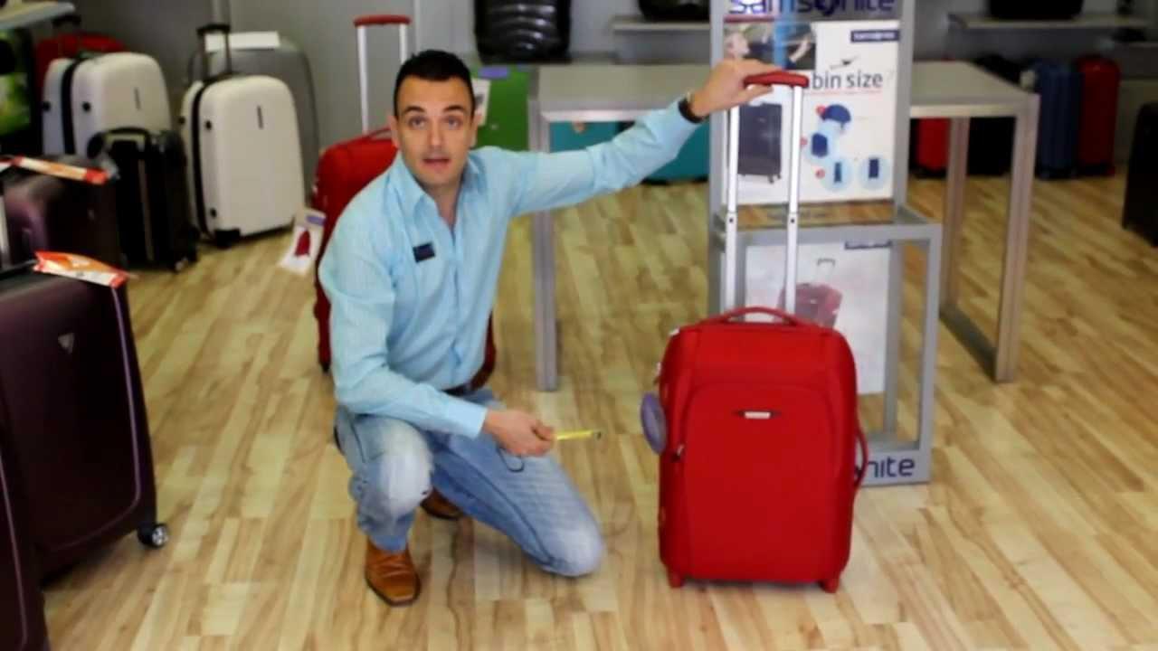 Samsonite sahora travel equipaje de cabina youtube - Medidas maletas cabina vueling ...