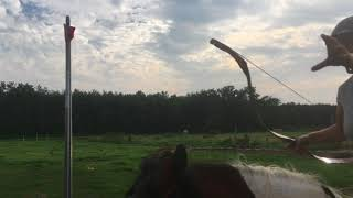Voorbereiding boogschieten te paard Horse Event 2017