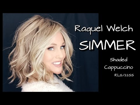 SIMMER Wig By Raquel Welch Review | RL12/22SS Shaded Cappuccino | Compare Maximum Impact | Styling!