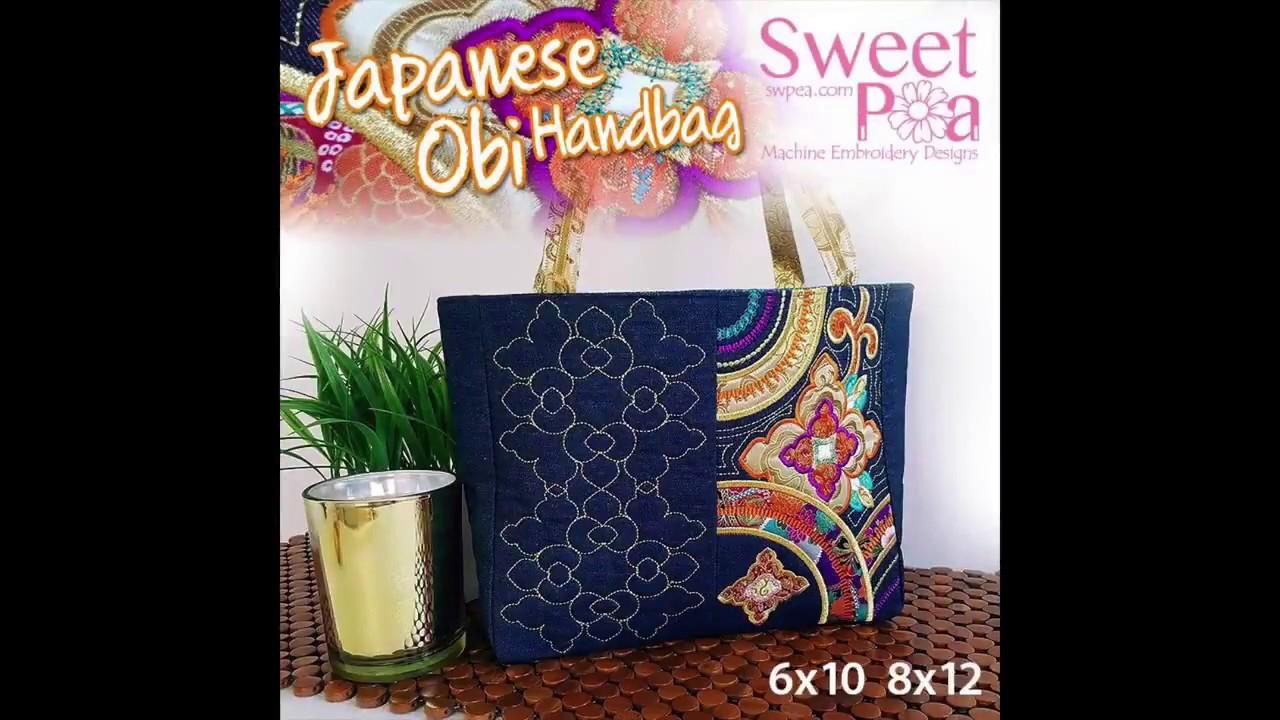 Japanese Obi Handbag - YouTube f6db7eaf52743