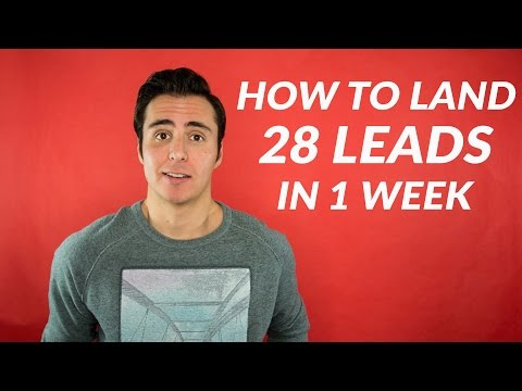 How To Land 28 Real Estate Leads In 1 Week!