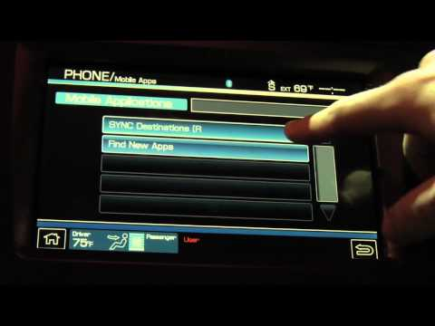 Ford SYNC AppLink: Voice Control Mobile Apps