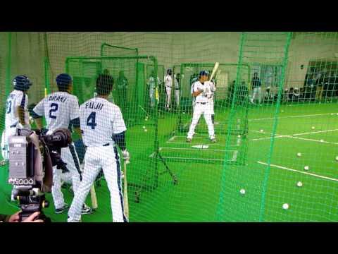 2010/2/16 バント・バスター練習 荒木・井端・森野・和田・藤井・谷繁
