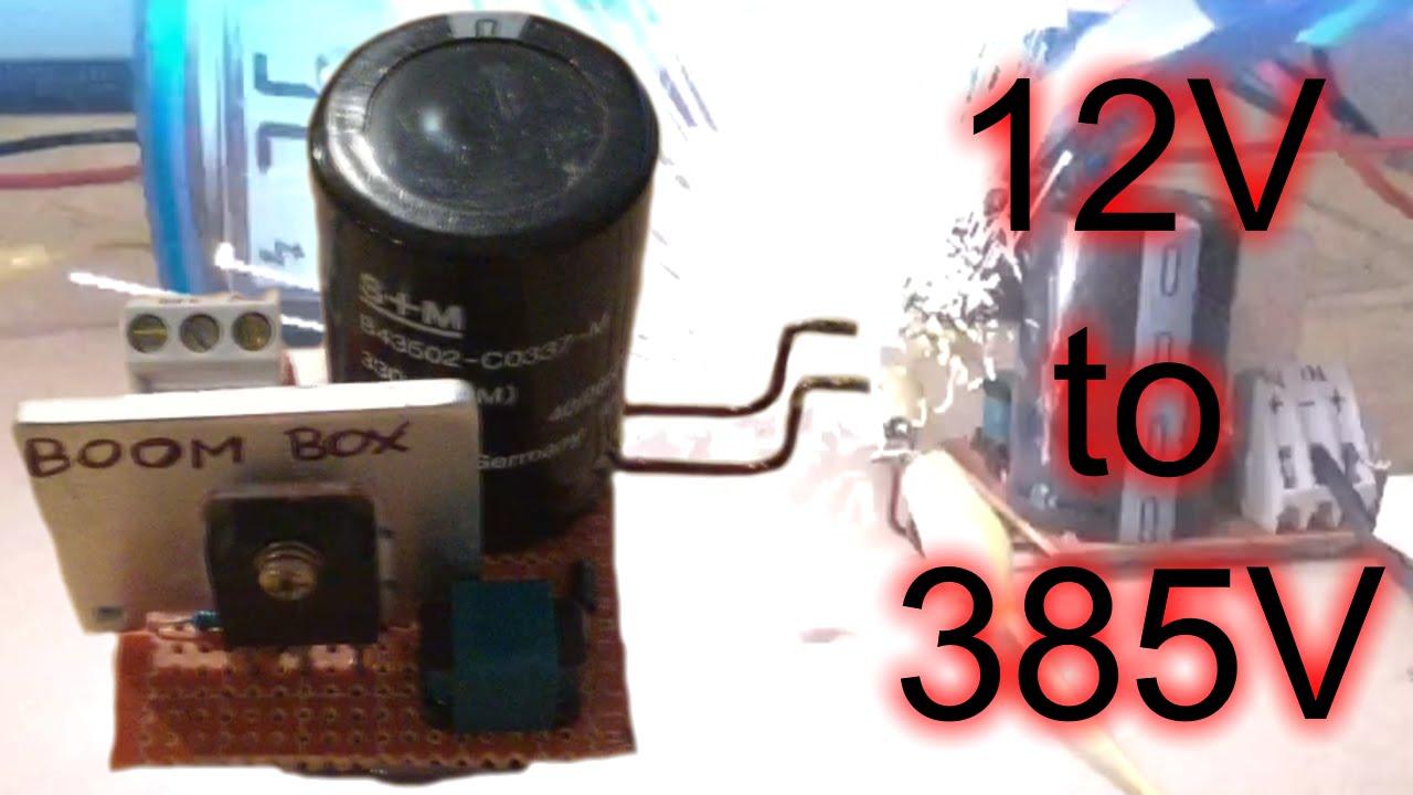 555 Mega Boost Converter 12v To 385v Dc Huge Sparks Youtube Circuit
