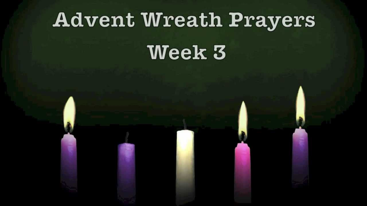 advent wreath prayers week 3 youtube. Black Bedroom Furniture Sets. Home Design Ideas