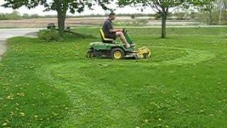 "Good Working John Deere F510 38"" Front Riding Lawn Mower"
