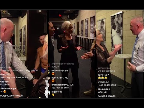 Road Dogg and Renee Young tell Finn Balor that they love him