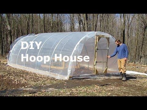 Basic Hoop House │ DIY Greenhouse