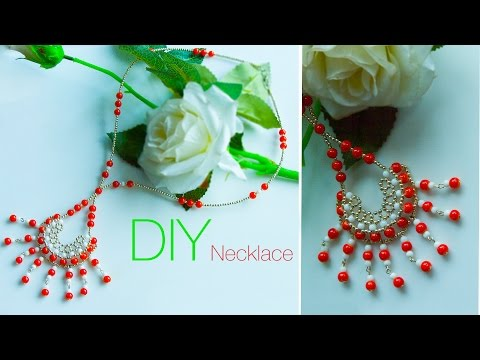 DIY pendant necklace ideas |  jewelry making | Beads art