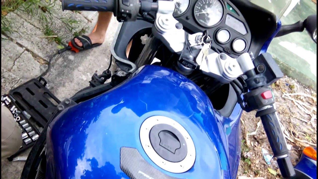 Suzuki gsxf 600 Katana замена цепи и звезд часть 1