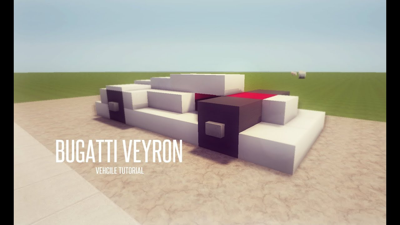 minecraft vehicle tutorial bugatti veyron youtube. Black Bedroom Furniture Sets. Home Design Ideas