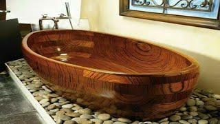 2018 Best Bathroom Decorating modern Ideas||Latest wooden bathtub Home Design Pictures||HOME DESIGN|