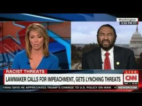 Rep Al Green threatened with Lynching because he called for Trump to be impeached
