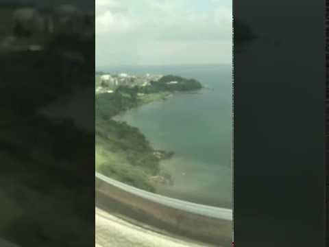 Landing at Saint Isabel Airport (SSG), Malabo, EQ (Passenger View) (HD)