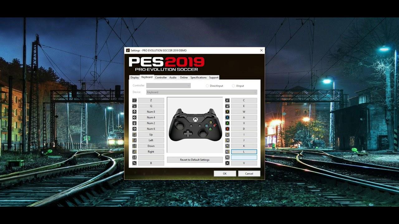 PES 2019 Keyboard configuration